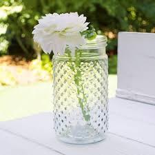 vintage hobnail clear glass jar candle holder medium antique vase pack of 12