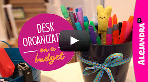 home office desk organization. [VIDEO]: Desk Organization On A Budget (Part 2 Of 4 Dollar Store Organizing) Home Office