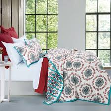HiEnd Accents Sonora White, Red, and Teal Quilt Set - Free ... & HiEnd Accents Sonora White, Red, and Teal Quilt Set Adamdwight.com
