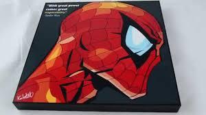 marvel comic art frame wall home decor spider man