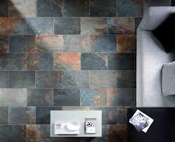 natural slate porcelain floor tile ceramic tileworks with design 19