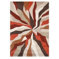 orange wave modern rug infinite  kukoon