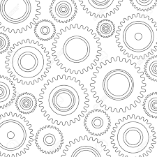 Gear Pattern New Gears Background Gears Pattern Industrial Machinery Factory