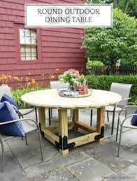 diy outdoor table. For Smaller Patios, Round Tables Give Plenty Of Eating Space Without Taking Up Too Much Diy Outdoor Table
