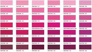 Hot Pink Color Chart Www Bedowntowndaytona Com