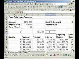 How To Find Interest Principal Payments On A Loan In Excel