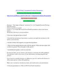 Sci 230 Week 7 Assignment Evolution Presentation By Veeru135 Issuu