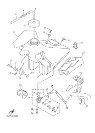 1999 yamaha yz400f yz400fl fuel tank parts best oem fuel tank on 80 carburetor diagram for