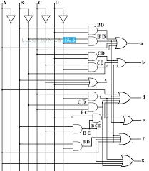 bcd to segment led display decoder circuit diagram and working bcd to 7 segment decoder design using basic gates