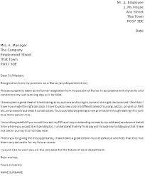 Rn Resignation Letter Template Business