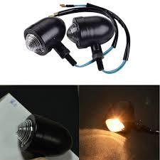 Battery Halogen Lights 2pcs Motorbike Turning Signals Bullet Blinker Halogen Lights