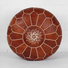 moroccan leather pouffe by bohemia  notonthehighstreetcom