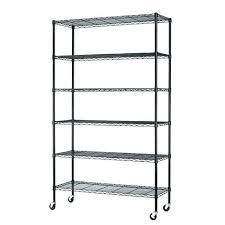 origami storage shelves shelf with wheels 6 tier adjule wire metal shelving rack w wheels black origami storage shelves