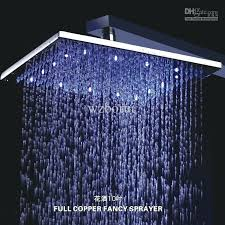 10 inch rain shower head diffe color square brass led light temperature control b 00 from