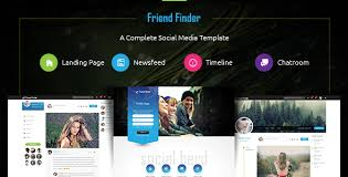 Friend Finder A Social Network Html5 Template Themesed