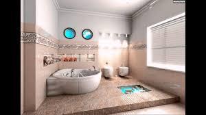 Kleines Badezimmer Maritim Deko Aquarium Beige Braun Meer Thema