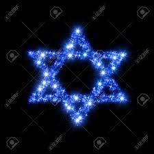 Christmas Lights Star Of David Stock Illustration
