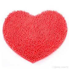 whole new chenille love heart shape bedroom rug carpet floor bath mat from china dhgate com