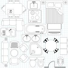 floor plan with furniture. simple furniture floor plan with