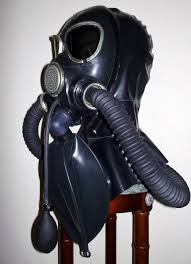 Gas mask rubber fetish