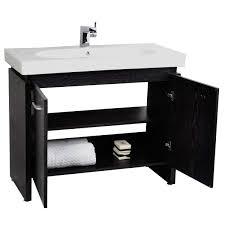 modern single bathroom vanity. Single Bathroom Vanity With Porcelain Sink San Francisco Modern 2