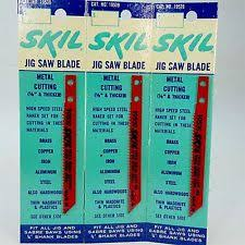 skil jigsaw blades. vintage set 3 skil jig saw sabre blade fits 1/4\ skil jigsaw blades