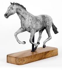 bronze on wood base horse sculpture equines race horses pack horsecart horses plough horsess sculpture