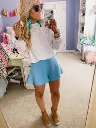 Light Shorts Outfit Spring Must Haves 2019 Cute Outfits With Jeans Light Blue