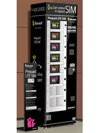 Japan Sim Card Vending Machine Custom KIX Vending Machines Sell PrePaid SIM Cards For Foreign Visitors In