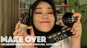 make over one brand makeup haul swatches tutorial first impression indonesia makeupbyfatya you