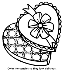 Valentine S Candy Coloring Page