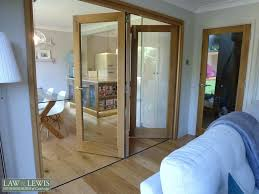 internal bifold doors oak law of ltd with frosted glass