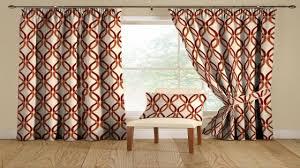 Orange Curtains Living Room Curtain Ideas Brown And Orange Living Room Drapery Ideas Red And