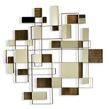 nova angles wall art mirror wooden canvas decorations brown white rectangular abstract minimalist