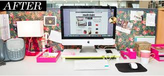 office table decoration. Cubicle Makeover Ideas Office Desk Decorations Marie Claire Table Decoration