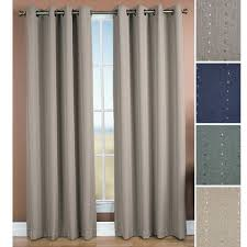 solid color grommet top thermal curtain panels