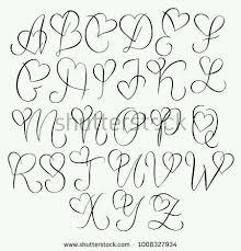 Herz Alphabet Handlettering Doodle #Alphabet #Doodle ...