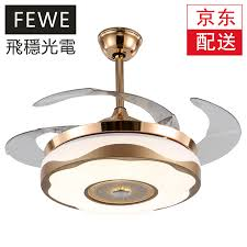 free installation flying le invisible ceiling fan light stylish simple restaurant chandelier fan light