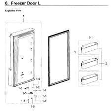 parts for samsung rf28k9580sr aa 0000 freezer door l parts appliancepartspros