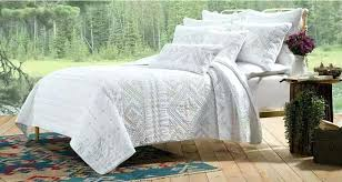 quilted duvet cover. Quilted Duvet Cover King Size Cotton White Artisan Bedding Quilt Embroiry Quilting By Pillowcase In Quilts