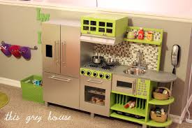 Play Kitchen From Old Furniture Diy Play Kitchen This Grey House