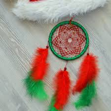 Dream Catcher Christmas Ornament Red Orange Yellow Dreamcatcher with from DreamsByEleanora on Etsy 13