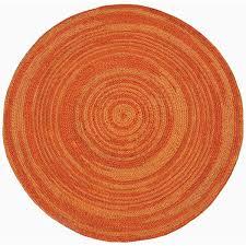 hand woven orange abrush braided jute rug 839 x 839 round 80cm round jute rug