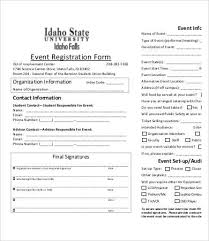 Printable Registration Form Template Event Helpful Quintessence