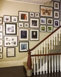 picture frames on staircase wall. Collage Picture Frames Staircase Traditional With Gallery White Tabletop On Wall