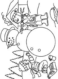 Kleurplaat We Gaan Een Sneeuwpop Maken Crayolabe