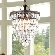 chandeliers pottery barn small adele chandelier martinee antique bronze and crystal inverted pyramid chandelier
