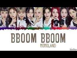 - Momoland Coded han eng color Bboom' Lyrics 'bboom Youtube 모모랜드 뿜뿜 rom