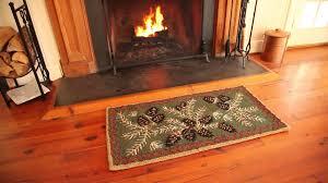 fire resistant hooked wool pine cone rug sku 33720 plow hearth
