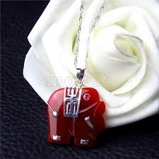 details about fashion women s natural red jade hand carved elephant pendant necklace gift
